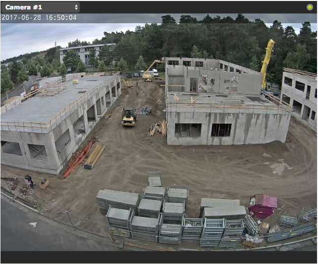 Livebild von der Baustelle