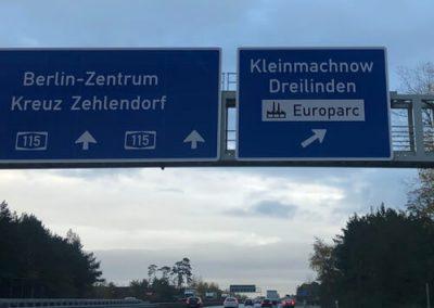 EUROPARC-Autobahnschild